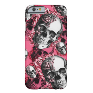 Coque iPhone 6 Barely There Crâne et roses à peine là je téléphone le cas