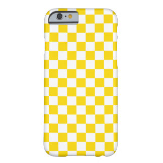 Coque iPhone 6 Barely There Damier jaune