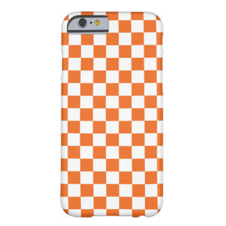 Coque iPhone 6 Barely There Damier orange