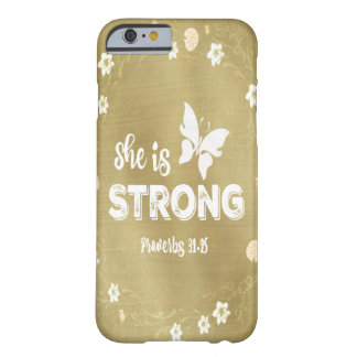 Coque iPhone 6 Barely There Des proverbes elle est or fort