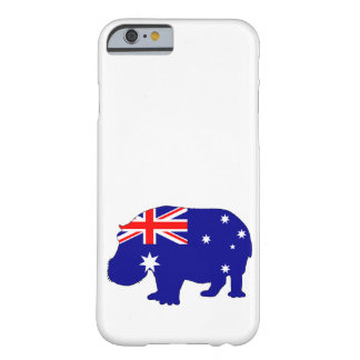 Coque iPhone 6 Barely There Drapeau australien - hippopotame