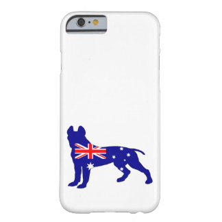 Coque iPhone 6 Barely There Drapeau australien - pitbull Terrier