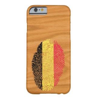 Coque iPhone 6 Barely There Drapeau belge d'empreinte digitale de contact