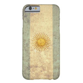 Coque iPhone 6 Barely There Drapeau de l'Argentine - grunge