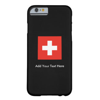 Coque iPhone 6 Barely There Drapeau suisse