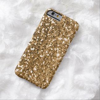 Coque iPhone 6 Barely There Étincelle d'or massif de regard de scintillement