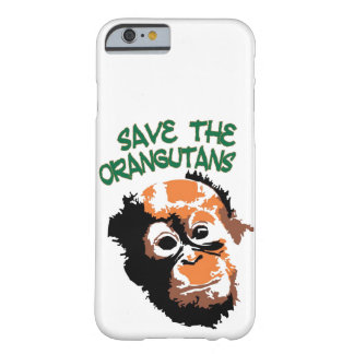 Coque iPhone 6 Barely There Faune rouge de singe d'orangs-outans