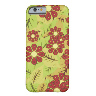 Coque iPhone 6 Barely There Feuillage et fleurs