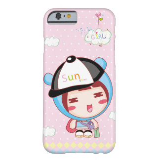 Coque iPhone 6 Barely There Fille mignonne de casquette bleu de bonbon