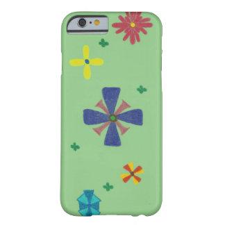 Coque iPhone 6 Barely There Fleurs sur la caisse intelligente verte herbeuse