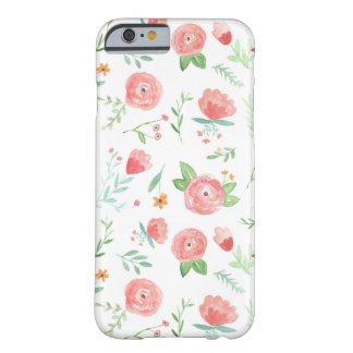Coque iPhone 6 Barely There Floral heureux de pêche
