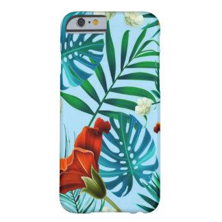 Coque iPhone 6 Barely There Floral tropical de bleu de ciel
