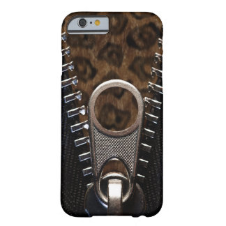 Coque iPhone 6 Barely There Fourrure Zippered de léopard