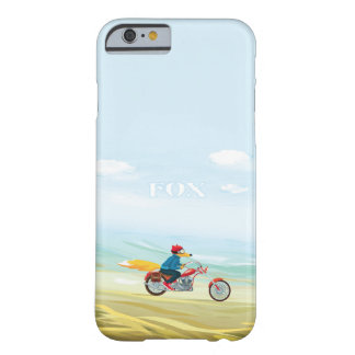 Coque iPhone 6 Barely There Fox-Man sur une moto rouge