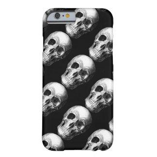 Coque iPhone 6 Barely There Grimaçant le cas de l'iPhone 6 de crâne - noir