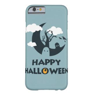 Coque iPhone 6 Barely There Halloween heureux avec la lune et le cimetière