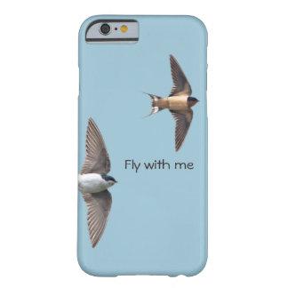 Coque iPhone 6 Barely There Hirondelle d'arbre animale d'oiseau et hirondelle