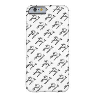 Coque iPhone 6 Barely There Huh ? ! motif noir et blanc tiré par la main de