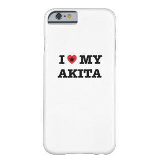 Coque iPhone 6 Barely There I coeur mon cas de téléphone d'Akita
