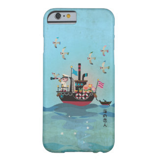 Coque iPhone 6 Barely There Illustration japonaise d'amant de mer rétro