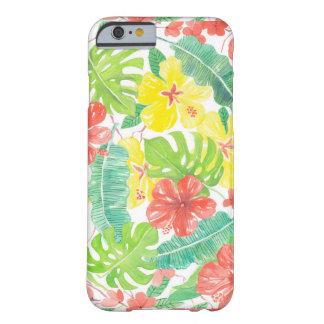 Coque iPhone 6 Barely There Jardin tropical, plumeria de ketmie et palmettes