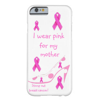 Coque iPhone 6 Barely There Je porte l'hommage rose de cancer du sein