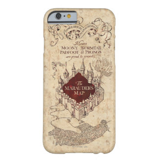 Coque iPhone 6 Barely There La carte du maraudeur du charme | de Harry Potter