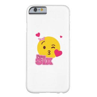 Coque iPhone 6 Barely There Le 6ème anniversaire d'Emoji badine pour la partie