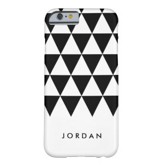 Coque iPhone 6 Barely There Le blanc personnalisent la triangle noire