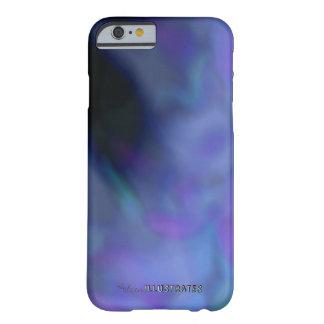 Coque iPhone 6 Barely There le bleu et le pourpre ont marbré la caisse de