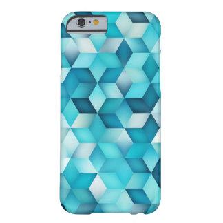 Coque iPhone 6 Barely There Le bleu ombrage la forme de losange de gradient