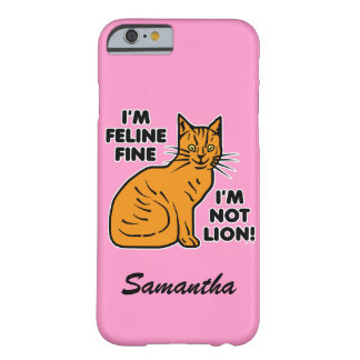 Coque iPhone 6 Barely There Le calembour drôle Kitty fin félin orange de chat