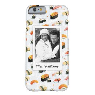Coque iPhone 6 Barely There Le motif japonais | de sushi de la nourriture |