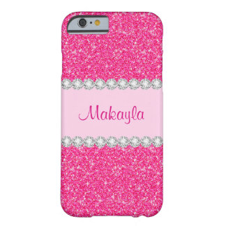 Coque iPhone 6 Barely There Les parties scintillantes roses Girly miroitent