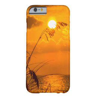 Coque iPhone 6 Barely There Lever de soleil par l'herbe
