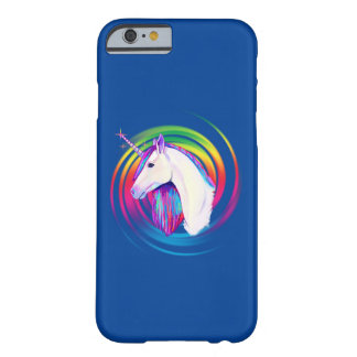 Coque iPhone 6 Barely There Licorne d'arc-en-ciel