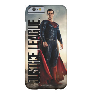 Coque iPhone 6 Barely There Ligue de justice | Superman sur le champ de