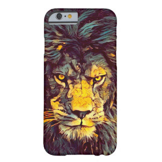 Coque iPhone 6 Barely There Lion de cas acrylique de l'iPhone 6/6s d'art de