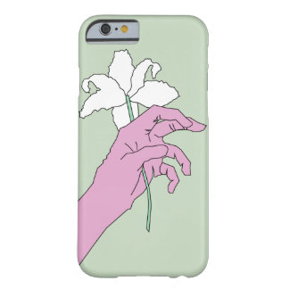 Coque iPhone 6 Barely There Main rose de fleur