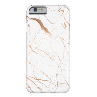 Coque iPhone 6 Barely There Marbre blanc et rose Luxe d'or
