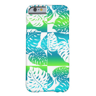 Coque iPhone 6 Barely There Mélange rayé hawaïen de Makua Monstera