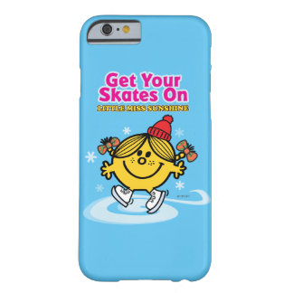 Coque iPhone 6 Barely There Mlle Sunshine de patinage de glace petite