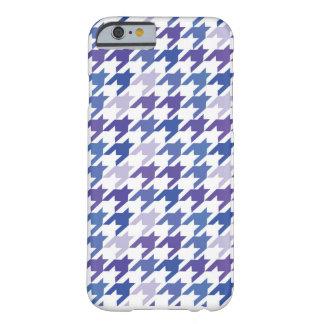 Coque iPhone 6 Barely There Modèle bleu moderne de pied-de-poule