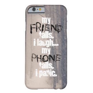 Coque iPhone 6 Barely There Mon ami, mon cas d'IPhone 6 d'arbres de neige de