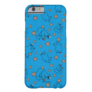 Coque iPhone 6 Barely There Monstre de biscuit et motif bleu de biscuits