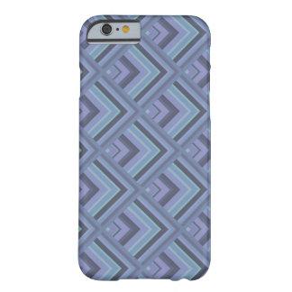 Coque iPhone 6 Barely There motif Bleu-gris d'échelle de rayures