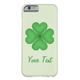 Coque iPhone 6 Barely There Motif de coeurs de trèfle de feuille de shamrock