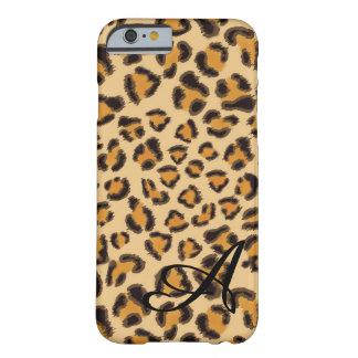 Coque iPhone 6 Barely There Motif de léopard - décoré d'un monogramme