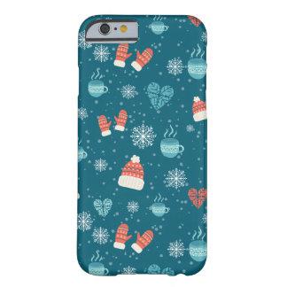 Coque iPhone 6 Barely There Motif de paquets de Joyeux Noël - motif d'hiver