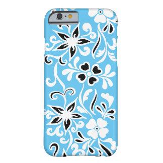 Coque iPhone 6 Barely There Motif floral noir et blanc personnalisable sur le
